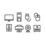 computer-accessories-icon-set-vector